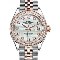 Rolex Lady-Datejust 28 279381RBR White Mother of Pearl Diamond...