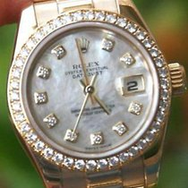 Rolex Ladies 18k Gold President Factory Mop Diam 179138