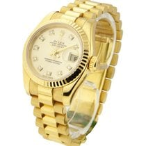 Rolex Used Lady''s President Yellow Gold