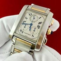"""Cartier Tank Française Gold & Steel - """"Chrono-Reflex"""""""