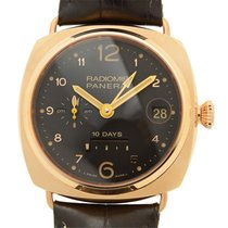 Panerai New  Radiomir 18k Pink Gold Brown Automatic PAM00497