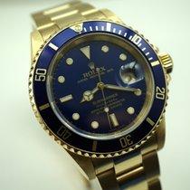 Rolex 16618 Submariner 18k yellow gold box,papers,books c.2003