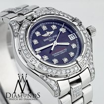 Breitling Colt Oceane A77350 Black Mother Of Pearl Diamond...