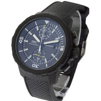 IWC IW379502 Aquatimer Chronograph in Black Steel - On Black...