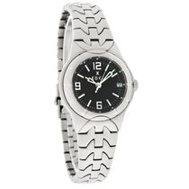 Ebel E-Type Ladies Black Dial Quartz Watch 9087C21/5716