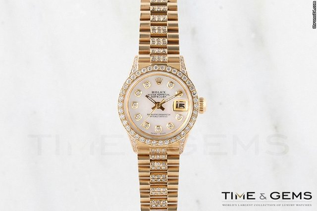 Rolex 18K Yellow Gold Mother Of Pearl Diamond Dial Beadset Bezel Super President