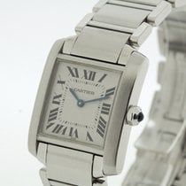 Cartier Tank Francaise Medium Size Stainless Steel Ref 2301 B...