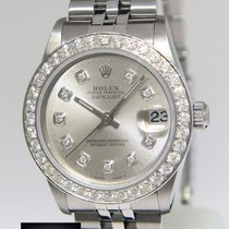 Rolex Datejust Stainless Steel Diamond Dial/Bezel Midsize...