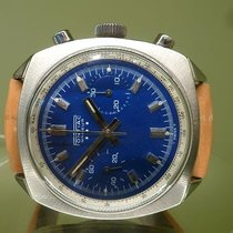 PONTIAC vintage chronograph valjoux 23 superb blue dial