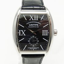 Wempe Glashütte Chronometerwerke Tonneau  Edelstahl  Handaufzug