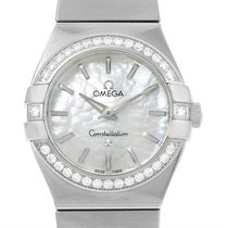 Omega Constellation 27mm Diamond Ladies Watch 123.15.27.60.05.001