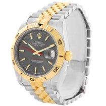 Rolex Thunderbird Turnograph Steel 18k Yellow Gold Watch...