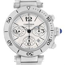 Cartier Pasha Seatimer Chronograph Silver Dial Mens Watch...