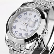 Rolex Datejust Ii (2) Grey Dial  Diamond Bracelet 41mm...