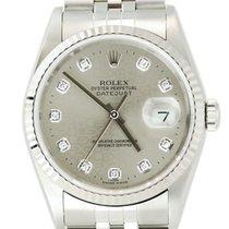 Rolex DateJust Anniversary SS w/Silver Diamond Dial -16234