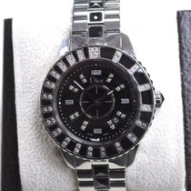 Dior Christal CD113115M001 SS With Diamonds & Black Sapphires
