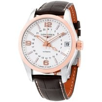Longines Conquest Classic White Dial Automatic Mens Watch...