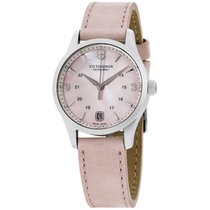Victorinox Swiss Army Alliance Pink Mop Dial Leather Strap...