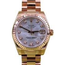 Rolex Datejust 178275 Ladies 31mm 18k Rose Gold Diamond Mother...