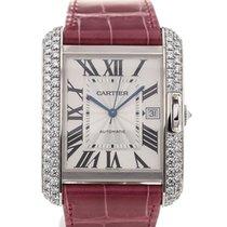 Cartier Tank Anglaise White Gold Diamond Pink