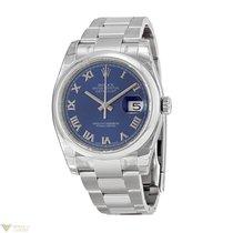 Rolex Datejust Stainless Steel Unisex Watch Blue Romain Dial...