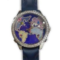 Jacob & Co. Five Time Zone Stainless Steel Diamonds Purple...