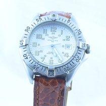 Breitling Colt Quartz Herren Uhr Klassiker 37mm Top Zustand Weiss