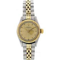 Rolex Ladies Vintage Rolex Oyster Perpetual 18K YG S/S Watch 6621