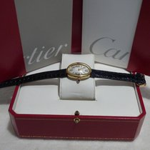 Cartier Baignoire 1920 Yellow Gold on  Leather Strap
