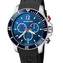 Wenger Sea Force Mens Dive Chronograph - Blue Dial &...