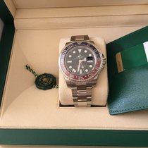 Rolex 18k White Gold Gmt Master II Black Dial 40mm 116719...