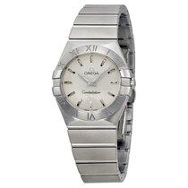 Omega Constellation Brushed Steel Ladies Watch 123.10.27.60.02...