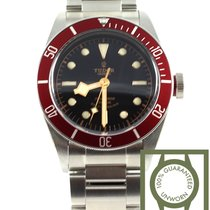 Tudor heritage black bay red bezel full steel NEW