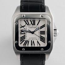 """Cartier Santos 100 Midsize """"Box & Papers"""""""