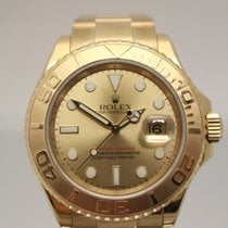 Rolex 16628B Yachtmaster 18kt Solid Gold w/ Champagne Dial -...