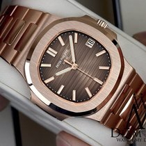 Patek Philippe Nautilus 18k Solid Rose Gold Automatic Mens Watch