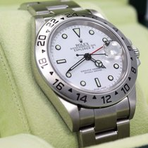 Rolex Explorer II 16570 Gmt Oyster Date White Dial Men's...