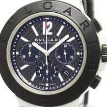 Bulgari Aluminium Chronograph Carbon Dial Automatic Mens Watch...