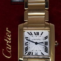 Cartier Tank Francaise 18k Yellow Gold Large Automatic Watch 1840