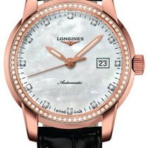 Longines New Ladies Saint-Imier L25639873 Diamond 18K MOP Watch