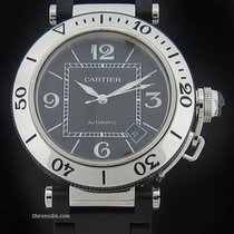 Cartier Pasha Seatimer Steel Rubber Watch W31077U2