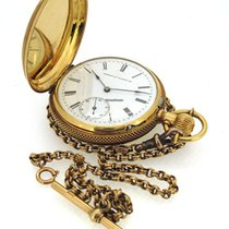 Waltham 18K Gold Pocket Watch, small second