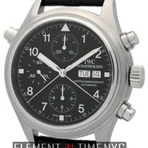 IWC Pilot Collection Pilot Double Chronograph Stainless Steel...