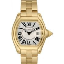 Cartier Roadster Ladies' Watch 18K Yellow Gold Silver Dial