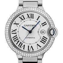 Cartier Ballon Bleu 18K Solid White Gold Automatic Diamonds