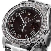 Rolex Datejust Ii Red Roman Diamond Dial 41mm Watch Diamond...