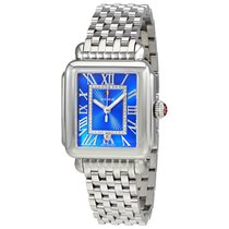 Michele Deco Madison Cobalt Dial Diamond Ladies Watch