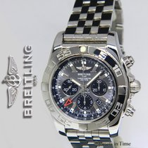 Breitling Chronomat GMT 47mm Chronograph Steel Gray Dial Watch...