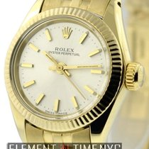 Rolex Oyster Perpetual Ladies No Date 18k Yellow Gold Ref. 6719