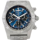 Breitling Chronomat 01 Blue Dial Steel Mens Watch Ab0110